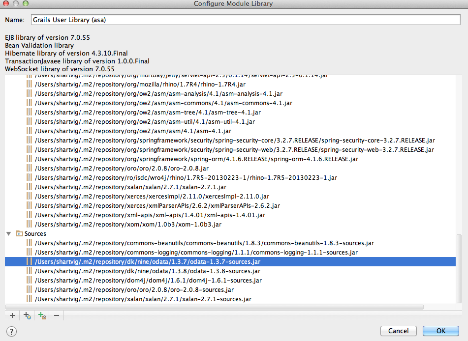 Attaching source from jar in grails project when using